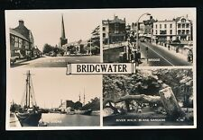 Somerset BRIDGWATER M/view Used 1957 RP PPC by Valentine