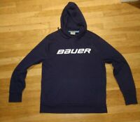 Bauer Men's Medium Slim Fit Dark Blue Ice Hockey Hoodie Sweatshirt