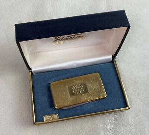 vintage HAND ENGRAVED MONOGRAM C MONEY CLIP IMPERIAL VANITY POCKETKNIFE E#15