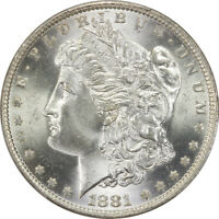 1881-O Morgan Silver Dollar PCGS MS65 Nice White New Orleans Coin $1 Good Strike