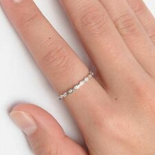 .925 Sterling Silver Ring CZ Infinity Ladies Knuckle Midi Thumb Size 5 New x10