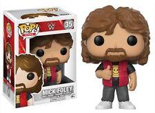 "WWE MICK FOLEY 3.75"" POP VINYLE FIGURINE FUNKO TOUT NEUF 35 VENDEUR ROYAUME-UNI"