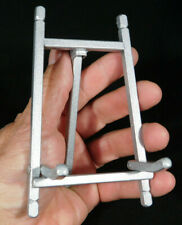 A Medium Folding Silver Colored EASEL Display Stand For Plates Fossils and More!