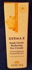 Derma E Dark Circle Reducing Eye Cream  1/2 oz. expires 7/2020