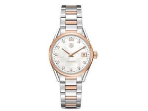New Tag Heuer WAR1352.BD0774 Women's Carrera Diamond Swiss Quartz Watch