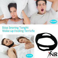 Anti Snore Sleep Apnea Stop Snoring Strap Belt Jaw Solution Chin Support UK