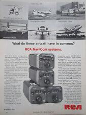 5/1973 PUB RCA NAV COM SYSTEMS BO-105 FALCON 10 CESSNA 414 KING AIR ORIGINAL AD