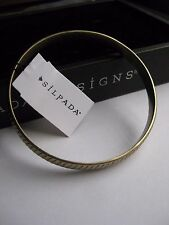 Silpada Grooved Bangle Brass Bracelet - NEW