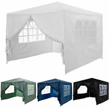 Waterproof PE Gazebo Garden Outdoor Marquee Canopy Party Tent 3x3m White