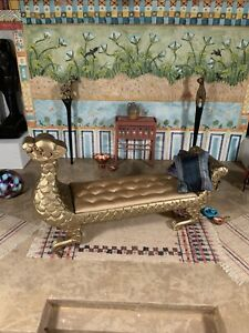 Dollhouse Miniature Bespaq Gilt Chaise Lounge (r)