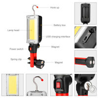 Premium COB LED Work Light 2 Modes Magnetic Camping Lamp Flashlight with Hook