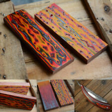 Knives Blacksmith Supplies Wood  Block Knife Handle Material Making 3D Colorful
