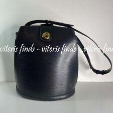 Authentic Louis Vuitton Cluny Black Epi Leather Shoulder Bag
