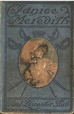 JANICE MEREDITH Paul Leicester Ford 1899 HC story American Revolution 2F