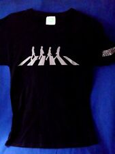Beatles t shirt Abbey Road on black mens size SMALL