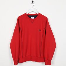 Vintage SERGIO TACCHINI Small Logo Sweatshirt Jumper Red Medium M