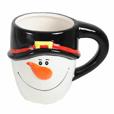 Gift Works Novelty Christmas Ceramic Face Mug - Snowman