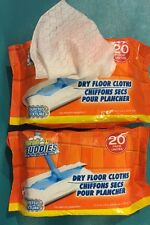 2 PACKS Of 20 BUDDIES SWEEPER DRY CLOTH QUILTED TEXTURE REFILLS FITS SWIFFER.