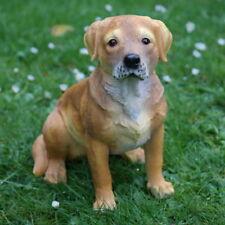 Dekofigur Labrador Hund Gartenfigur Türdeko Tierfigur Skulptur wetterfest