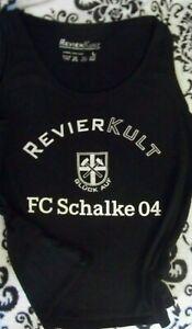 FC Schalke 04 Revier Kult Top Shirt Damen Gr. L schwarz