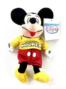Mickey Mouse Plush NEW! with Tag The Disney Store Mini Bean Bag Vintage