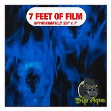 Hydrographic Film Blue Embedded Skulls Hydro Dipping 7 X 20 Hydro Dip