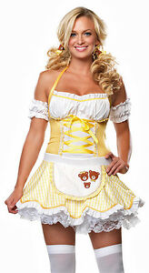 Storybook Goldilocks Costume, Leg Avenue 83483, Adult 2 Piece, Size M/L