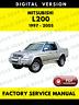 Mitsubishi L200 1997-2005 Warrior Factory Service Repair Workshop Manual