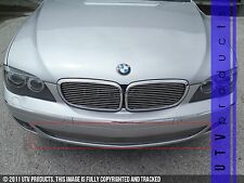 GTG 2006 - 2008 BMW 7 Series 1PC Polished Overlay Bumper Billet Grille Grill