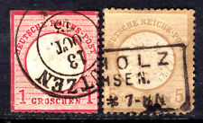 GERMANY #17,20, 1872 LARGE SHIELD LOT/2, F, USED