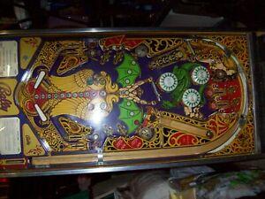 Bally Lost World Pinball Machine Cabinet W/ Excellent Playfield