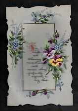 C1916 French plastic decorative card - Flowers 'Sweet & charming'
