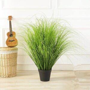 Green Artificial Plants Leaves Simulation Plastic Onion Grass Decora Fake Leaf