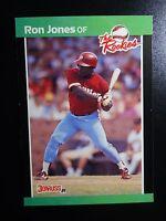 1989 Donruss Rookies #42 Ron Jones Philadelphia Phillies Baseball RC Rookie Card