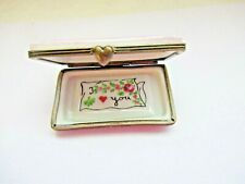 Peint Main Limoges Trinket- Love Letter Sealed With A Kiss
