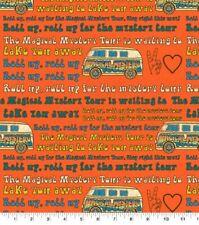 Beatles Magical Mystery Tour Cotton Fabric Lyrics Lennon McCartney