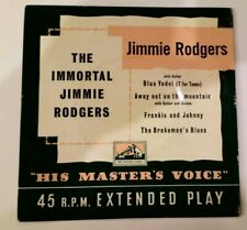 The Immortal Jimmie Rodgers - Jimmie Rodgers HMV 7EG8163 EP 1956