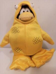 Disney club penguin yellow fish plush