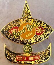 Hard Rock Cafe KUALA LUMPUR 1990s Blue KITE Gold & Red FLOWERS PIN - HRC #13503
