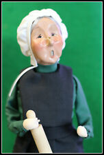 Byers Choice 2003 Amish Grandma Holding Rolling Pin Signed Byers