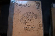 CMI RS-180 ROAD RECLAIMER SOIL STABILIZER Operator Manual book operation owner