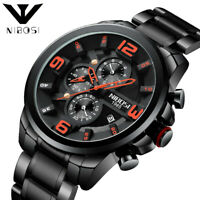 NIBOSI Reloj Hombre 2019 Top Brand Luxury Big Dial Sport Waterproof Quartz Watch