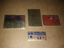 LOT 4  PIN'S série Loto