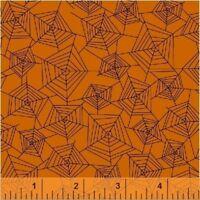 By 1//2 Yard Windham Mischief Night Pumpkin Patch ~ Halloween Floral Vines Fabric
