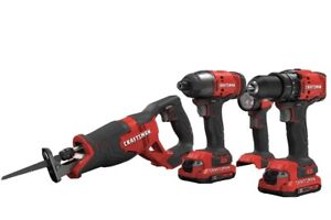 Craftsman 20V CMCK400D2 4-Tool Combo Kit with Soft Case (2-batteries And Charger