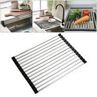 26*45cm Stainless Folding Draining Rack Dish Drain Shelf Holder Sink Drainer Mat
