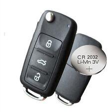 Se adapta a VW Polo Golf MK6 Transporter 3 Botón Remoto Clave Fob Cáscara Estuche + Batería