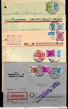 GERMANY - 5 Cover with Posthorn stamps issue 1951 - posted