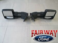 05 thru 14 F-150 OEM Genuine Ford  Manual Telescopic Trailer Tow Mirrors PAIR