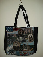 New Mill Street Design Tapestry Canvas Tote Bag Historic Maryland